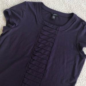 Alfani Purple Short Sleeve Top Blouse XL